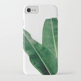 Tropical Banana Leaf Pair iPhone Case