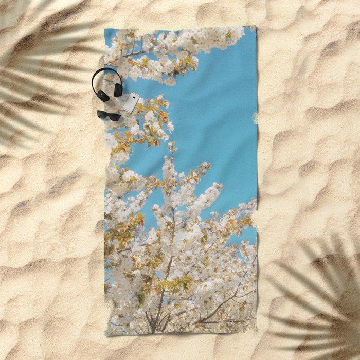 Wave of Flowers Beach Towel