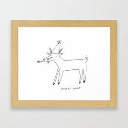 Party Goat Framed Art Print