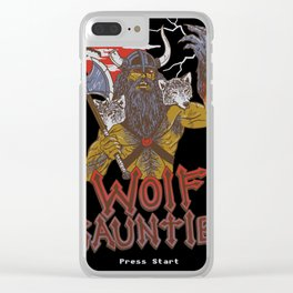 Wolf Gauntlet Clear iPhone Case