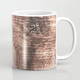 Scrapped Wood Cross Section Cut Gritty Woody Grain Detail Coffee Mug