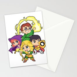 Retro Tabletop Gaming Vintage Kids Fantasy D20 Dragons Print Stationery Cards