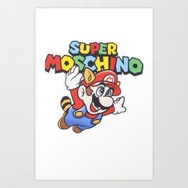Mario Bros Moschino Art Print
