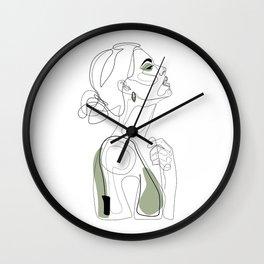 Olive Beauty Wall Clock