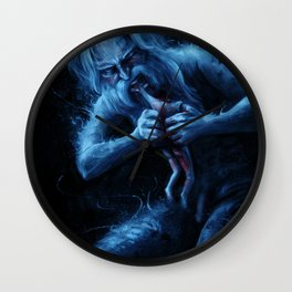 Saturn Devouring His Young (After Goya) Wall Clock
