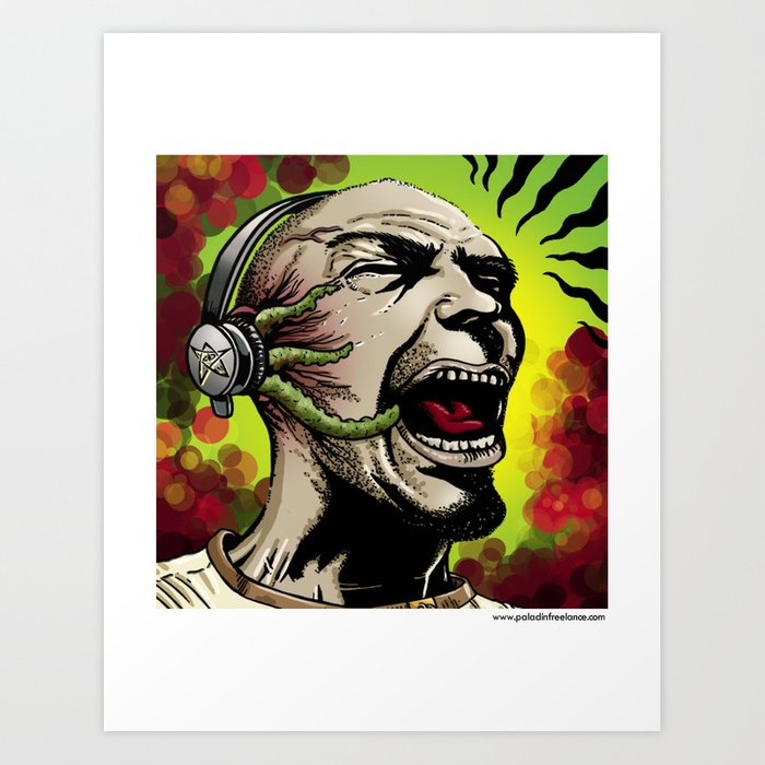 Listen to the Madness Art Print