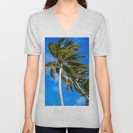 Palm Trees in Paradise Unisex V-Neck
