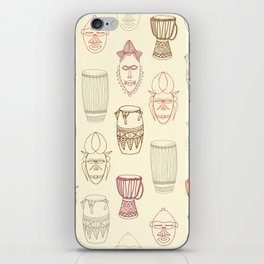 African drums and masks iPhone Skin