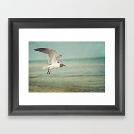 """""""The Seagull see farthest who flies highest."""" --Proverbs quote Framed Art Print"""