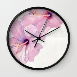 Sunset In The Rain Wall Clock