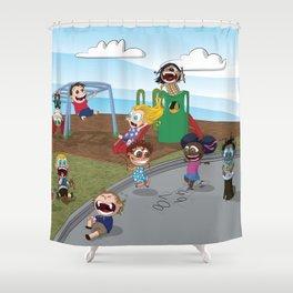 The Playground Shower Curtain
