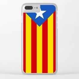 Estelada Blava - Senyeraestelada, HQ Banner version Clear iPhone Case