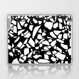 Terrazzo White on Black Laptop & iPad Skin