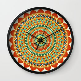 Mandala of Happyness, Health and Wealth Wall Clock