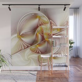 Decor with Gold, Abstract Fractal Art Wall Mural