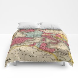 Vintage Map of The Roman Empire (1875) Comforters