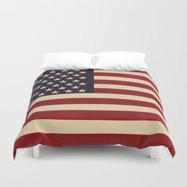 American Folk Flag Duvet Cover