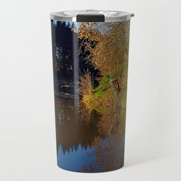 Romantic evening at the pond   waterscape photography Travel Mug