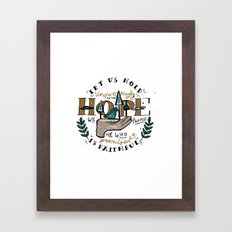 46/52: Hebrews 10:23 Framed Art Print