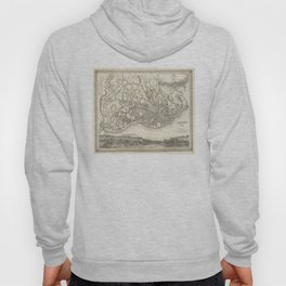 Vintage Map of Lisbon Portugal (1844) Hoody