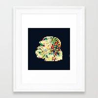 8bit Framed Art Prints featuring Ape 8bit by jnk2007