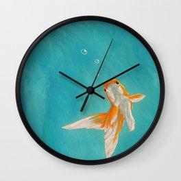 Goldfish in the ocean Wall Clock