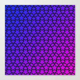 Blue and pink stars pattern Canvas Print