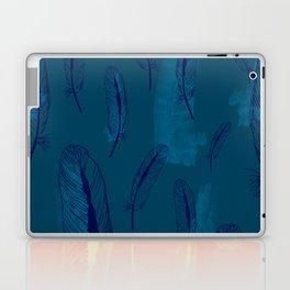 Peach Feather Pattern Laptop & iPad Skin
