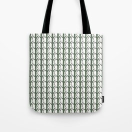Green And Brown Chinese Praying Mantises On Green Leaves Tote Bag