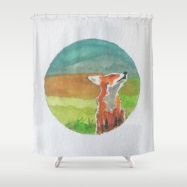 Rounded fox Shower Curtain