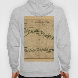 Map Of The Hudson River 1639 Hoody