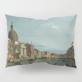 A View of the Grand Canal by Canaletto Pillow Sham