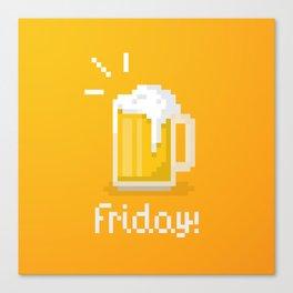 Pixel Friday Canvas Print