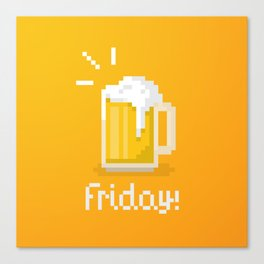 Pixel Friday Canvas Print