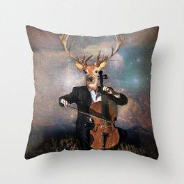 The Musican - Vinolocello Throw Pillow