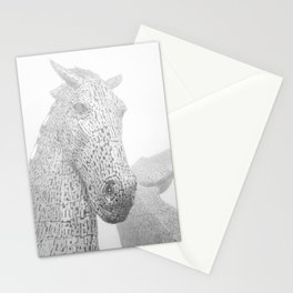 Kelpies equestrian horse sculpture, Scotland. Travel photography poster art print  Stationery Cards