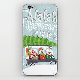 Happy Elephant Dashing Through the Snow iPhone Skin