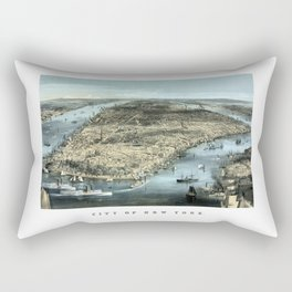 New York City -- Circa 1850 Rectangular Pillow
