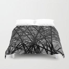 Kerplunk Extended Black and White Duvet Cover