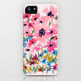 Peachy Wildflowers iPhone Case