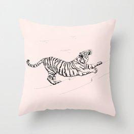 Tiger and Sun I. Throw Pillow