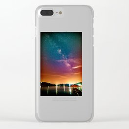 Milky Way over Water Clear iPhone Case