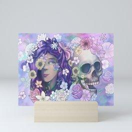 Flower Skull 2019 Mini Art Print