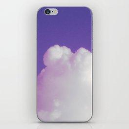 Big Fluffy Cloud Against a Purple Sky, Beautiful Cloud and Beautiful Sky iPhone Skin