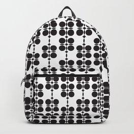 Ethnic geometric hanging flowers black & white Backpack