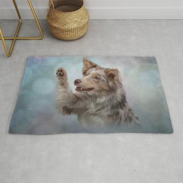 Drawing Dog breed Border Collie Rug
