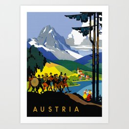 Austria - Vintage Travel Ad Art Print