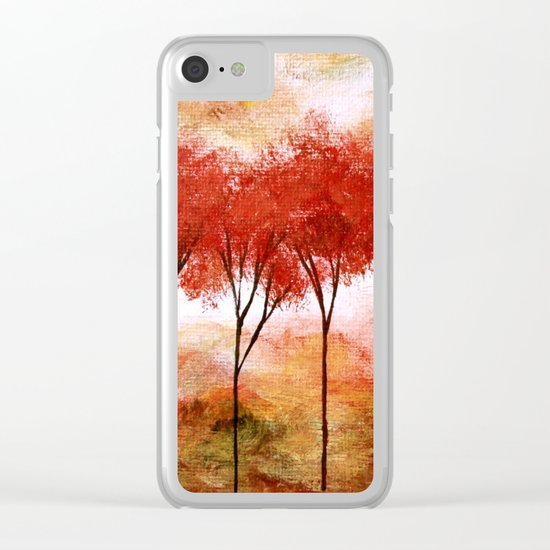 Burning Promise, Abstract Landscape Art Clear iPhone Case