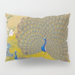 Peacock spreading its tail feathers - Lang Shining (Giuseppe Castiglione, 1688-1766 Pillow Sham