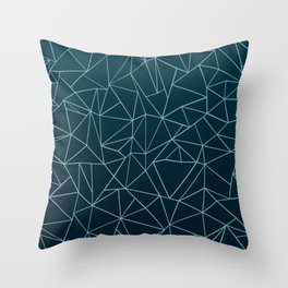 Ombre Ab Teal Throw Pillow